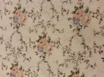 CREAM ROSE FLOWER - Floral Fabric- POLY COTTON - Price Per Metre